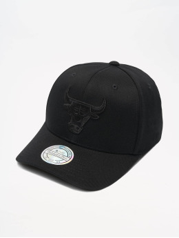 Mitchell & Ness Snapback Cap NBA Chicago Bulls 110 Black On Black nero