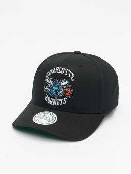 Mitchell & Ness Snapback Cap Charlotte Hornets Team Logo High Crown 6 Panel 110 nero
