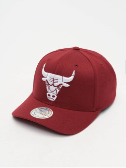Mitchell & Ness Snapback Cap NBA Chicago Bbulls 110 Curved rot