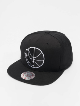 Mitchell & Ness NBA Golden State Warriors Wool Solid Snapback Black/White