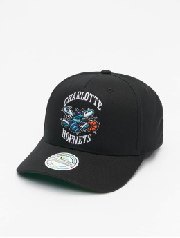 Mitchell & Ness Snapback Cap Charlotte Hornets Team Logo High Crown 6 Panel 110 schwarz
