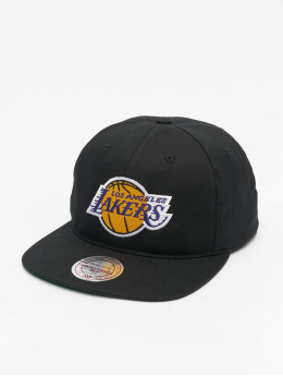 Mitchell & Ness Snapback Cap NBA L.A. Lakers Wool Solid schwarz