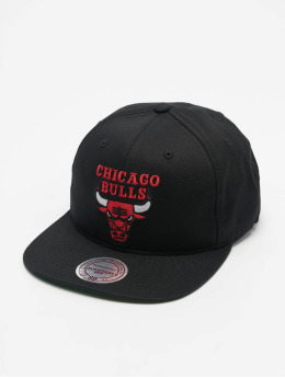 Mitchell & Ness Snapback Cap NBA Team Logo Deadstock Throwback schwarz
