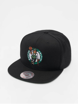 Mitchell & Ness Snapback Caps NBA Boston Celtics Wool Solid čern