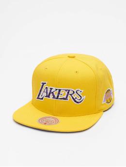 Mitchell & Ness Snapback Caps Wildback HWC LA Lakers žlutý