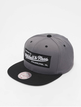 Mitchell & Ness Snapback Caps Branded Box Logo grå