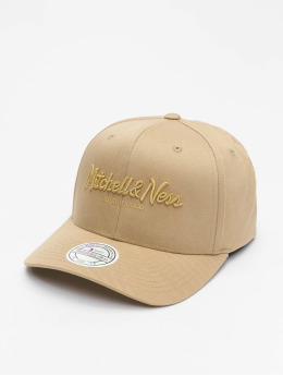 Mitchell & Ness Snapback Caps Own Brand Metallic Pinscript khaki