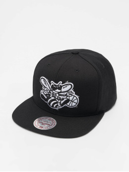 Mitchell & Ness Snapback Caps NBA Charlotte Hornets Wool Solid musta