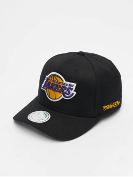 Mitchell & Ness Snapback Caps NBA LA Lakers 110 Curved Eazy musta