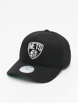 Mitchell & Ness Snapback Caps NBA Team Brooklyn Nets Logo High Crown 6 Panel 110 musta