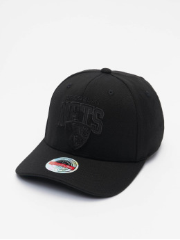 Mitchell & Ness Snapback Caps Black Out Arch Redline Brooklyn Nets musta
