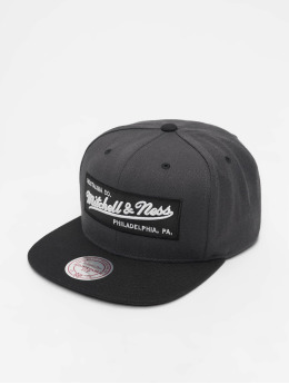 Mitchell & Ness Snapback Caps Branded Box Logo szary