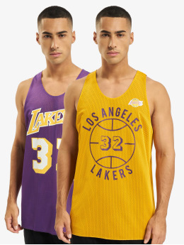 Mitchell & Ness Tank Tops Reversible Los Angeles Lakers Magic Johnson violet
