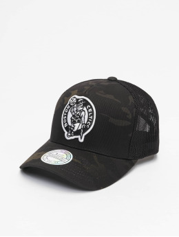 Mitchell & Ness Trucker Cap Multicam Boston Celtics schwarz