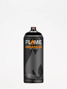 Molotow Краска аэрозольная Flame Orange 400ml Spray Can 901 Thick Black черный