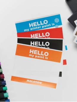 Molotow Equipment Hello My Paint Is Sticker Set bunt
