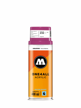Molotow Spraymaling One4All Acrylic Spray 400ml Spray Can 232 Magenta lyserosa