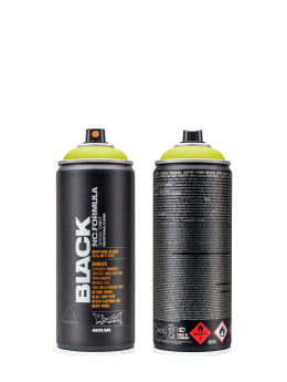 Montana Краска аэрозольная BLACK 400ml 6005 Acid желтый