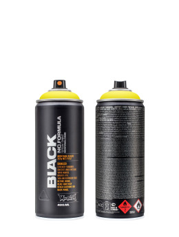 Montana Bombes BLACK 400ml 1000 True Yellow jaune
