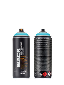 Montana Bomboletta BLACK 400ml 5000 True Cyan blu