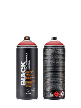 Montana Sprayburkar BLACK 400ml 3020 Fire Rose röd