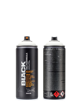 Montana Sprayburkar BLACK 400ml 9105 White vit