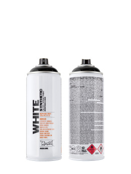 Montana Spraydosen WHITE 400ml 9000 Black čern