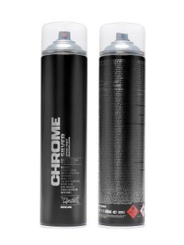 Montana Spraydosen Bombing 600ml Silverchrome silberfarben