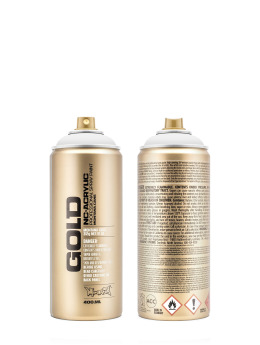 Montana Spraydosen GOLD_400ML 9100 Shock White weiß