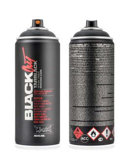 Montana Spraymaling 400ml 0000 BlackOut Tarblack svart