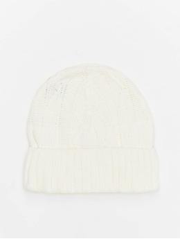 MSTRDS Beanie Cable Flap blanco