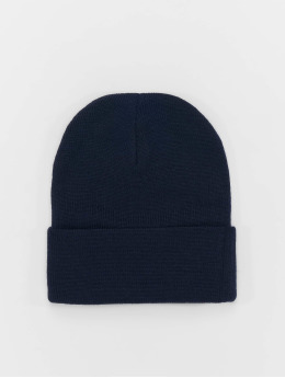 MSTRDS Beanie Basic Flap Long blau