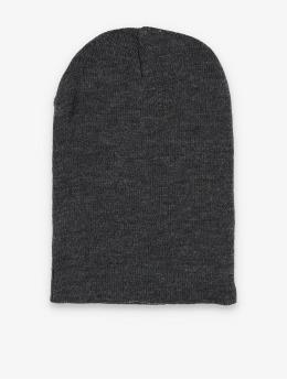 MSTRDS Beanie Basic Flap Long grijs