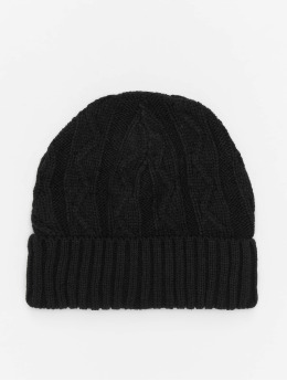 MSTRDS Beanie Cable Flap schwarz