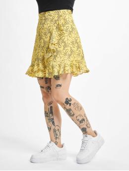 NA-KD Šaty Floral Printed žlutý