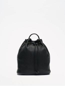 NA-KD Batohy Faux Leather Drawstring èierna