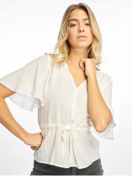 NA-KD | Tie Waist Button  blanc Femme Blouse & Chemise