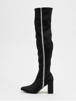 NA-KD Boots Striped Overknee negro