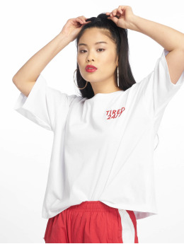 NA-KD Camiseta Tired 24/7 Oversized blanco