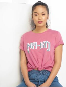 NA-KD Camiseta Logo fucsia