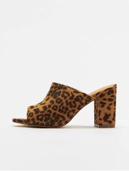 NA-KD Chanclas / Sandalias Leopard marrón
