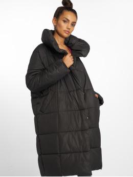 NA-KD Coats Padded Shawl Collar black