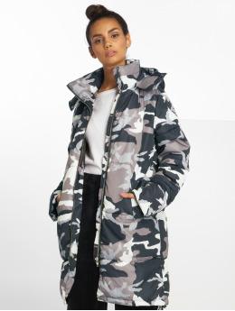 NA-KD Coats Long Camo Padded camouflage