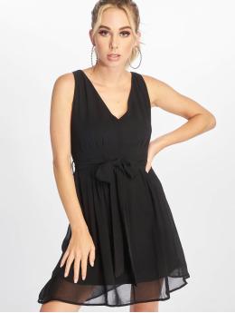 NA-KD Dress Belted Chiffon black