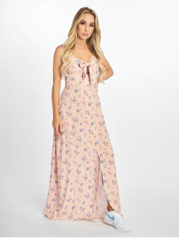 NA-KD Dress Front Tie Floral  rose