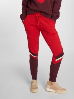 NA-KD Jogging kalhoty Stripe Blocked červený