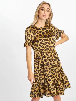 NA-KD jurk Midi Frill bruin