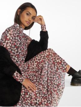 NA-KD jurk Mesh Longsleeve Midi pink
