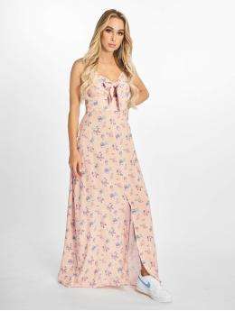 NA-KD jurk Front Tie Floral  rose