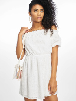 NA-KD jurk Off Shoulder Puffy Sleeve wit